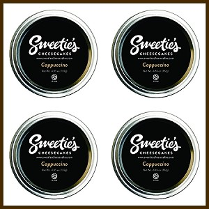 "Sweetie's Cheesecakes 3"" Jar - Cappuccino 4 - Pack"